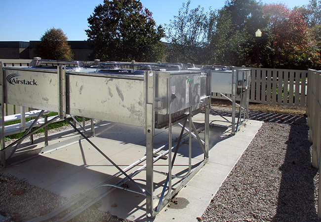 Condensers at College of Wooster HVAC system