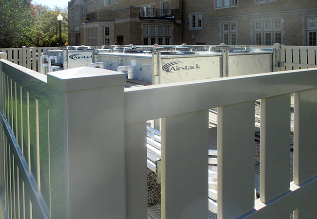 condensers in college of Wooster hvac system