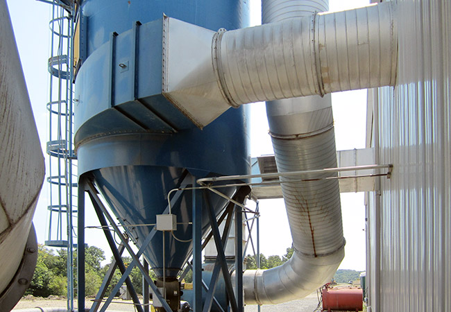 installation of dust collection system at fryburg door