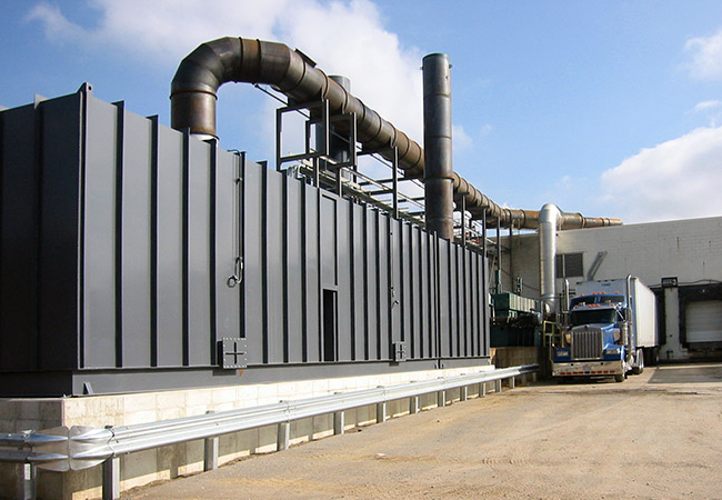 exhaust ducting at RTO industrial facility