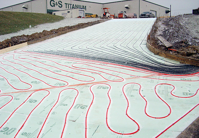 construction of heated driveway