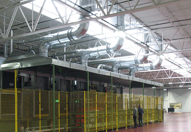 hvac ductwork at sfs intect - medina ohio
