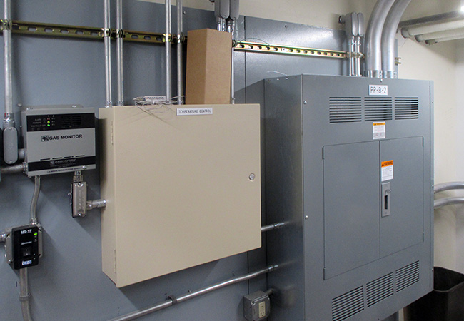hvac panel board at college of Wooster
